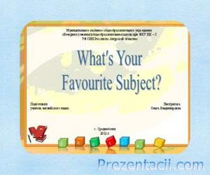 What is your favourite subject
