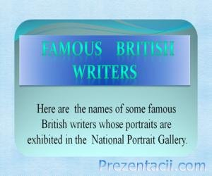 Famous British Writers (Знаменитые британские писатели)